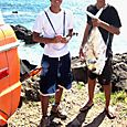 Kaena Taylor and fish